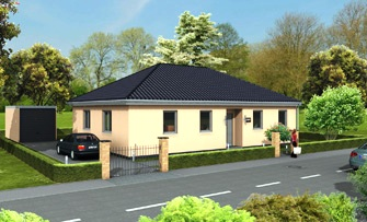 Aktionshaus Bungalow 115 Strasse links 335