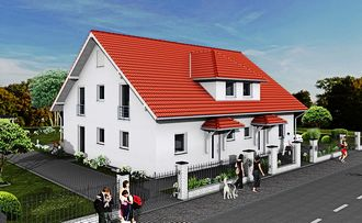 DOPPELHAUS 195 STRASSE LINKS PUTZ small
