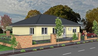 Bungalow 125qm WF 3D Strasse links small